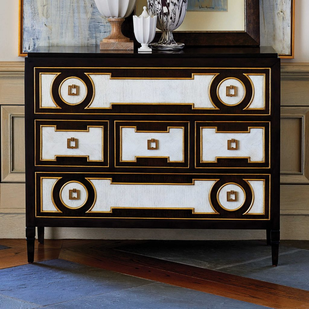 Art deco, 70's inspired chest of drawers