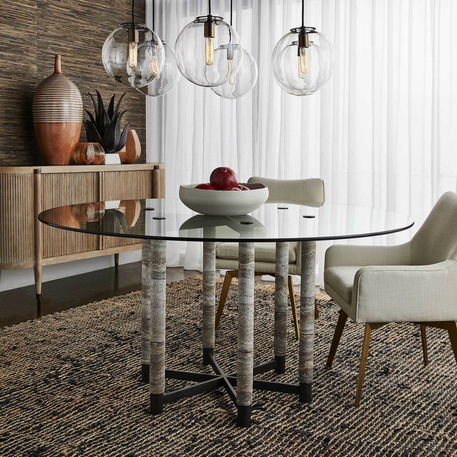 Mi-century modern dining table is sophisticated and retro