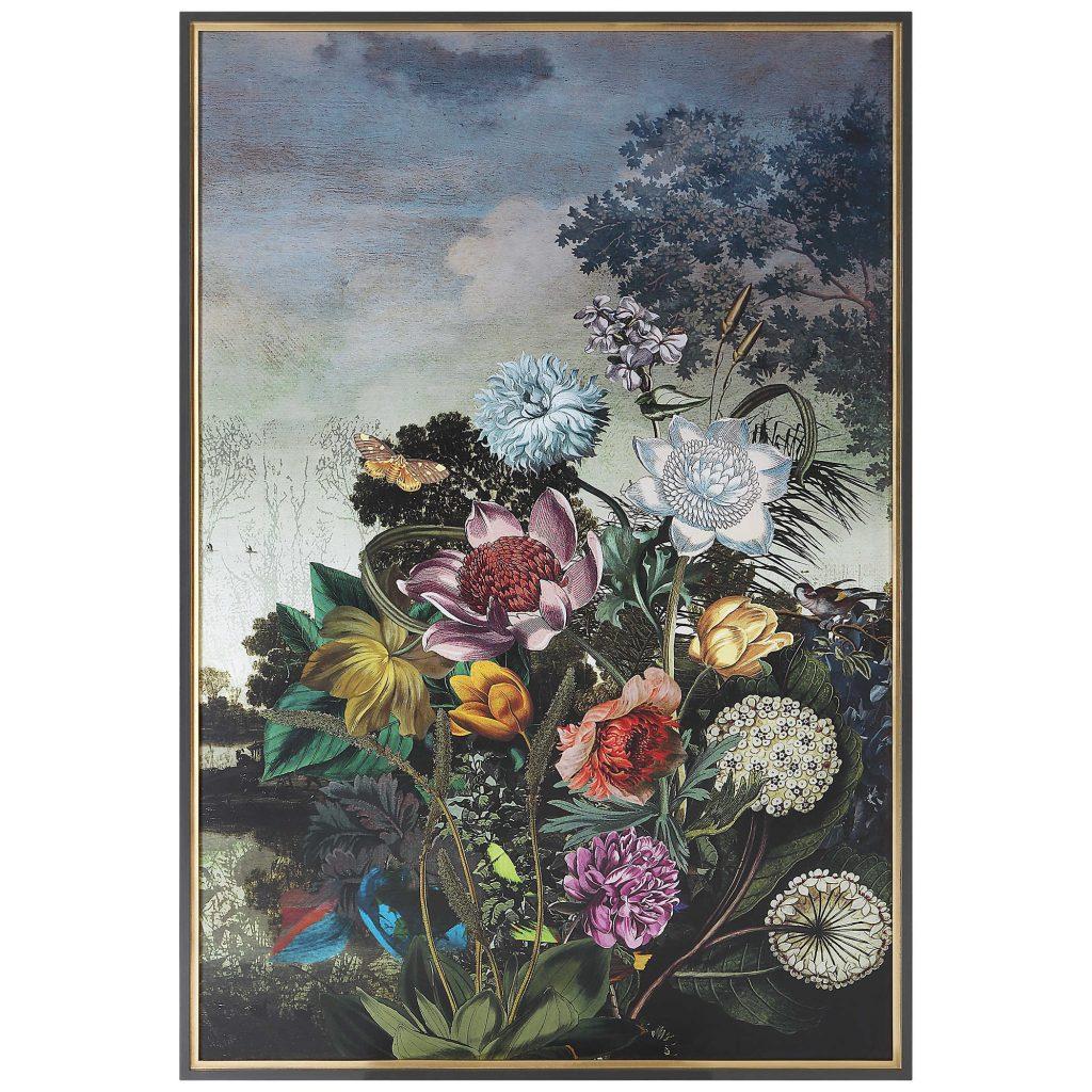 Granny Chic floral print in a retro-surrealist style