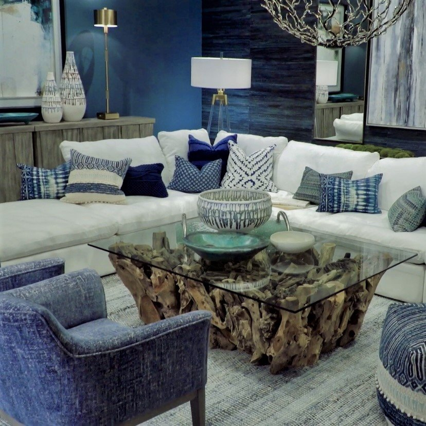 Green-toned blue room exudes warmth with teal accents